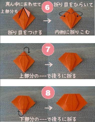 かぼちゃおばけ 作り方6~8