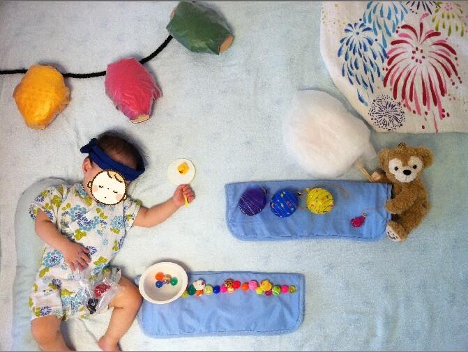 寝相アート 夏祭り