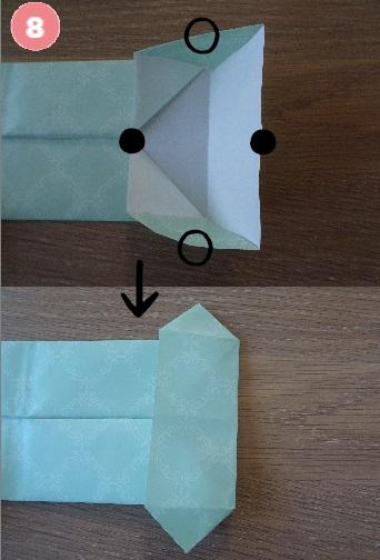 Yシャツの折り方 手順8-3