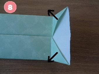 Yシャツの折り方 手順8-1