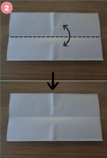 Yシャツの折り方 手順2