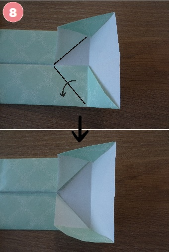 Yシャツの折り方 手順8-2