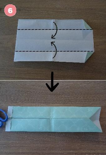 Yシャツの折り方 手順6