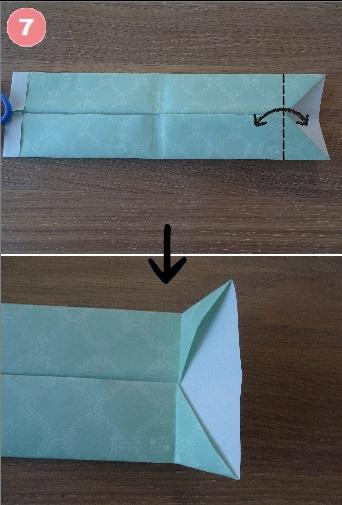 Yシャツの折り方 手順7