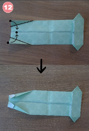 Yシャツの折り方 手順12