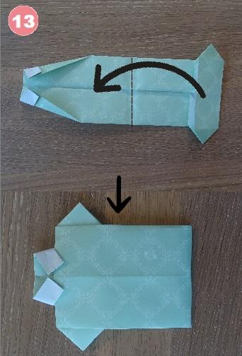 Yシャツの折り方 手順13