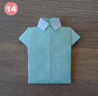 Yシャツの折り方 手順14