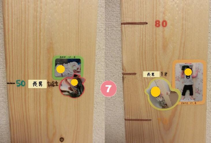 身長計装飾 手順7