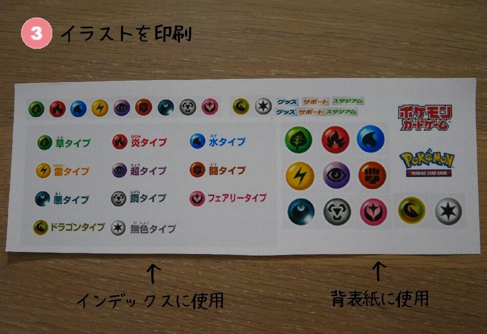ポケモンファイル 背表紙 手順3