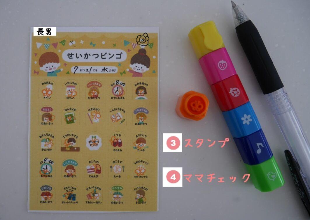ビンゴ 使用方法3-4